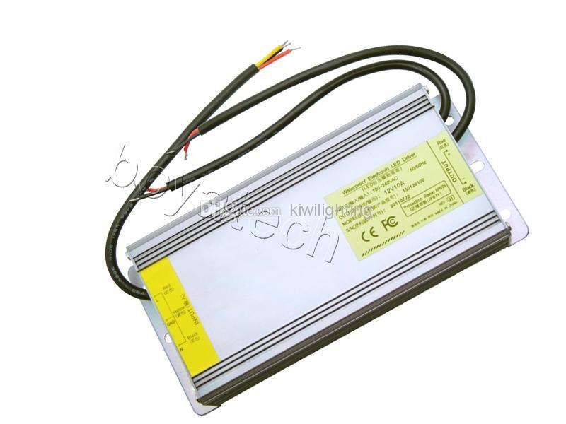 Spedizione gratuita 12V 10A 120W Impermeabile elettronico LED ALIMENTAZIONE ALIMENTAZIONE AC100-240V LED luce fai da te
