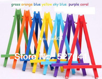 Wholesale Plastic Paint Green - DIY Digital Oil Painting Plastic Multi Color Child Mini Green Small Canvas Easel Easels For Children Painting