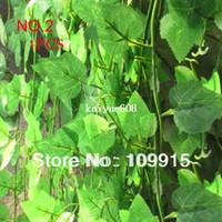 Wholesale Grape Leave - 12pcs lot Artificial Ivy Grape Leaves Vine Foliage Home Garden Garland decorative flowers PLANTS JX0118P