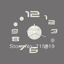 2014 3D meilleur horloge murale décoration de la maison bricolage cristal miroir horloges murales pour enfants wall art montre décor vente chaude livraison gratuite ? partir de fabricateur