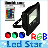 Wholesale Outdoor Plug Flood Light - rgb led flood lights outdoor lighting 10w 20w 30w 50w led flood lights landscape lighting ac 110-240v + 1.2 power cable + power plug
