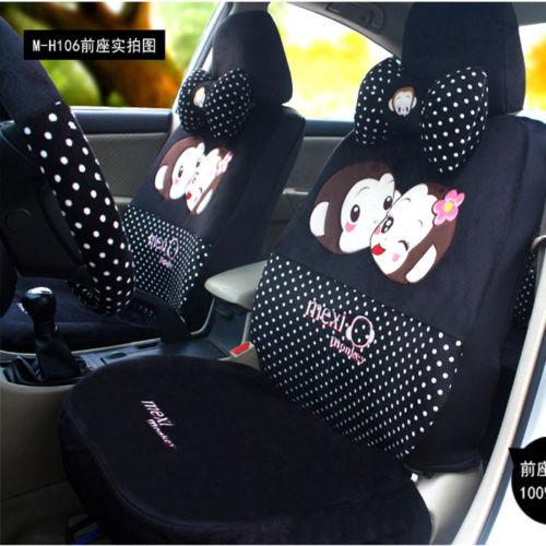 Couple Monkey Furry Black Car Seat Cover Sitting Cushion Sets One Suit Online With 16572 Piece On Meilirenwu007s Store