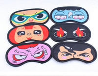 Hot Sale Cute Cartoon Style Eye Mask Cover for Sleeping Travel Rest Wholesale Cheap Frete Grátis