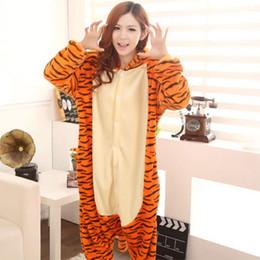 Wholesale Tiger Jumpsuit Woman - Promotion Jumping Tiger New Adult Unisex Onesies Kigurumi Women Men Pajamas Cosplay Japan Costumes Cute Animal Pyjamas Jumpsuit