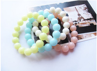 Wholesale Plastic Halloween Candy - South Korea jewelry cute MM summer love sweet candy fashion color jelly color beads bracelet The girl child bracelet bracelet