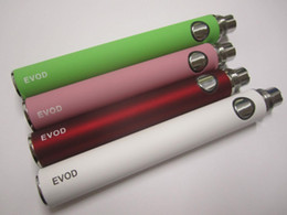 Wholesale Ego Batteies - EVOD battery 650mah 900mah 1100mah 510 thread Ego series batteies for Ego-W ego-t ego-c ego-v Evod MT3 atomizers,fit CE4 CE5 CE4S CE6 DCT