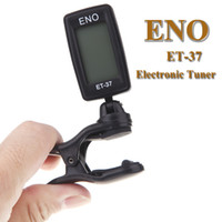 Wholesale Eno Guitar - ENO ET-37 LCD Mini Clip-on Electronic Guitar Chromatic Bass Violin Ukulel Tuner Wind Instrument Universal I263