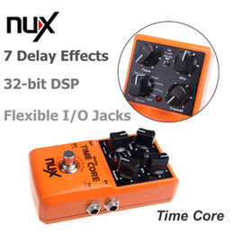 Wholesale Digital Time Delay - NUX Time Core Guitar Digital Delay Pedal with Loop Machine - 7 Delay Effects 40 seconds Stereo Loop Machine True Bypass I258
