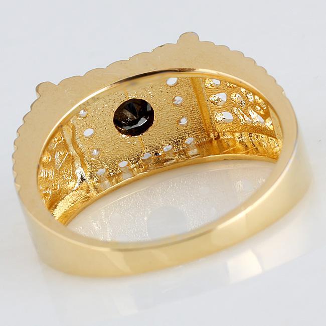 Anello uomo in argento sterling 925 Finitura oro giallo Anello in onice nero Anelli con taglio rotondo dimensioni del partito Colori servizio di incisione a scelta R125
