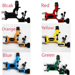 Wholesale Dragonfly Tattoo Machine Kits - Hot Sale Pop Dragonfly Rotary Tattoo Machine Gun 7 Colors Assorted Professional Tattoo Kits Supply Super