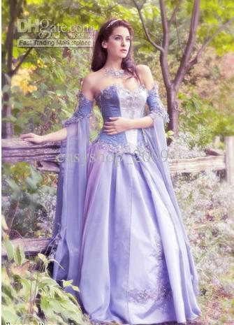 Compre Vestido De Novia Medieval Esdla Renacimiento Fantasía Vestido ...