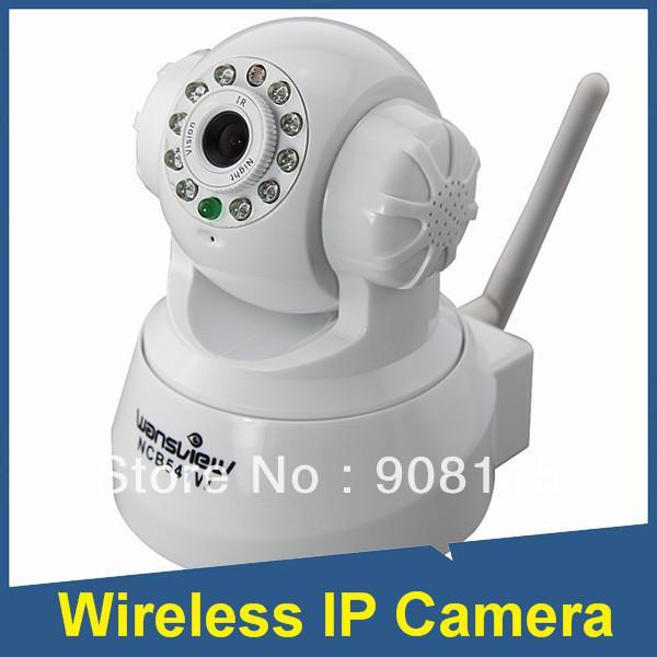 US Stock Wansview NCB541W Wireless IP Camera Pan Tilt Multi-view Audio  Night Vision White Camera