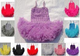 Wholesale Tutu Ballet Rose - 8%off!Many layers of chiffon!rose!summer!Bud silk dress!Sleeveless princess dress!ballet dance!DROP SHIPPING!tutu dress!7color!5pcs lot.WL