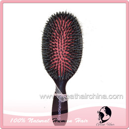 Wholesale Boar Brushes - Free Shipping High Quality + Fashion + Professional Boar Bristle Hair Brush+comb 1pc