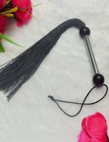 Wholesale Sexy Whippings - Free Shipping Sexy Festive Toys New Black Leather Like Whip Flogger Kinky Sexy Party decorations G70201