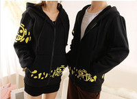 Wholesale Heart Character Costume - Hot New One Piece Trafalgar Law Clothing Red Heart Pirates Sweatshirt men women hoodies Cosplay costume spring autumn winter hoodies
