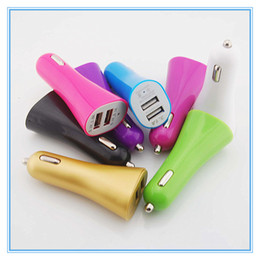 Wholesale Lenovo Smartest Phone - USB Dual Port Car Charger Chargers with 3.1A 5v for iPad iphone5 iPhone 5 5S iPod lenovo Samsung galaxy s4 s5 huawei smartphone smart phone