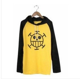 Cosplay Law Canada - One Piece Cosplay Trafalgar Law long Sleeve Hoodies yellow&black high quality hoodies low price spring aurtumn hoodie thin hoody