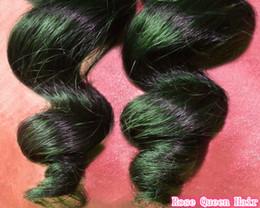 Wholesale Ms Queen - 2pcs Lot Loose wave 6A Queen Hair Wave Brazilian Virgin Hair Extensions Remy hair Wholesale Natural Color 1B human hair Mocha hair Ms Lula