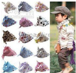 Wholesale Kerchief Bib Wholesale - Baby Burp Cloths towels bibs triangle towels wipes children's kerchief infant 200pcs lot hot