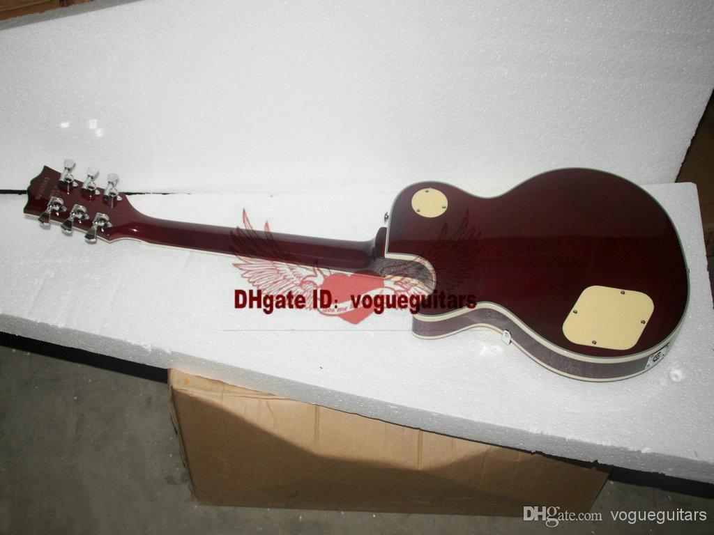Neue Ankunfts-rote kundenspezifische E-Gitarren-Creme-Schlagbrett-Ebenholzgriffbrett Soem-Musikinstrumente Freies Verschiffen