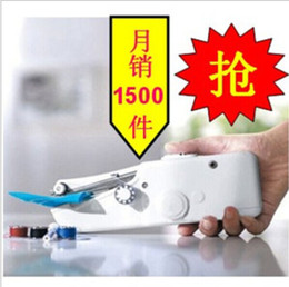 Wholesale Household Sewing Machine Electric - Sewing machine hand electric mini manual household+gift silk scarf top sale free shipping