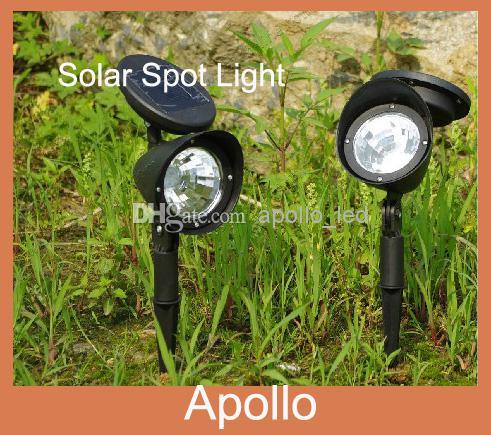 2017 Solar Spot Light Led Garden Lawn Lights White Outdoor