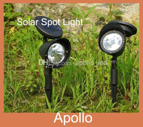 2018 Solar Spot Light Led Garden Lawn Lights White Outdoor Spotlight  Landscape Solar Powered Garden Lamp Courtyard Solar Led Lights From  Apollo_led, ...
