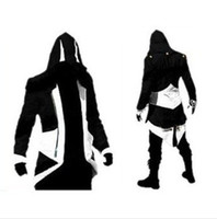 Wholesale Slim Wool Coat Men S - Hot Sale Custom handmade Fashion Assassins Creed 3 III Connor Kenway Hoodies Costumes Jackets Coat 9 colors choose direct from factory