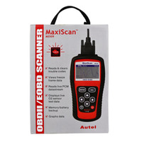 Wholesale Diagnostic Scanner For German Cars - MS509 MaxiScan code OBD 2 scanner latest version high quality ms509 Code Reader Autel MS 509 Car Diagnostic Tool DHL free shipping