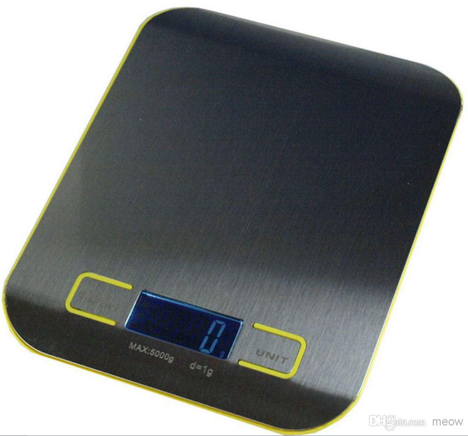 Best Kitchen Scale High Quality Digital Food Diet Balance Kitchen Weight  Digital Scale With Stainless Steel Platform 5000g/1g Under $20.11 |  Dhgate.Com
