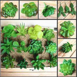 Vasi da fiori zakka online-Simulazione di ZAKKA delle piante succulente artificiali piante in vaso Mini fiori decorativi decorativi per la decorazione domestica della novità Trasporto libero