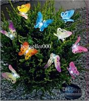 cadena de navidad al por mayor-20 LED cadena de luz solar con buterfly Solar cadena de mariposa luz para chrismas decorativo gratuito shi