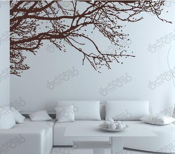 Acheter Noir Branche D\'arbre Sticker Mural Bricolage Art Muraux En ...