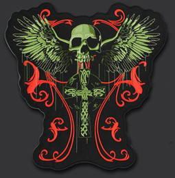 925c1a823fd Large Skull Patch Canada - 11.8 inches skull wing large Embroidery Patches  for Jacket Motorcycle Biker