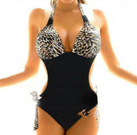 Wholesale Women Swimsuits Large - 2014 New Sexy leopard triangle connection swimming swimsuit Bikini elastic Bathing Suits For Women swimwear Large size swimsuit TY23