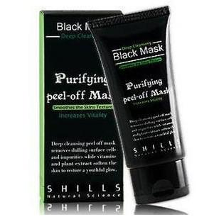retail 50ml SHILLS Deep Cleansing purifying peel off Black mud Facail face mask Remove blackhead facial mask Smooth Skin Shill