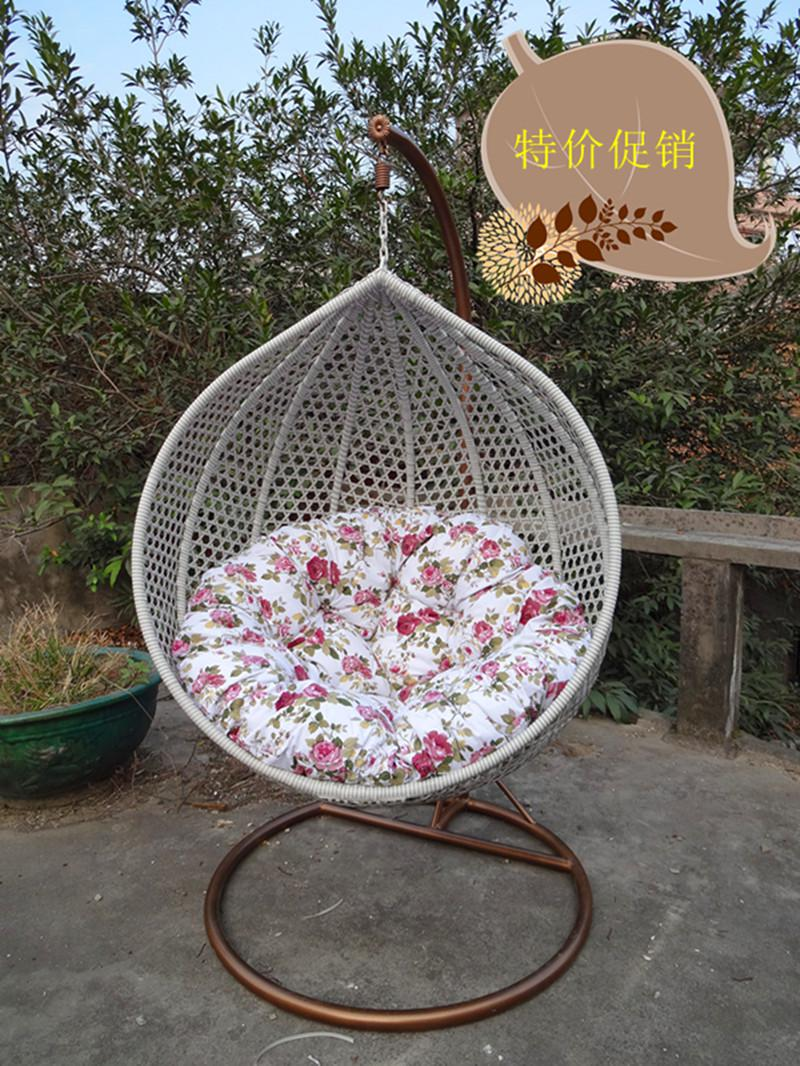 Outdoor Hanging Basket Swing Rattan Chair Balcony Rocking Chair Indoor  Cradle Hanging Chair Bird Cage Adult Single Hanging