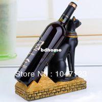 Wholesale Diy Rack - Creative DIY Unique Egyptian Cat Goddess Resin Wine Rack 1 Bottle Holder Home Kitchen Tools