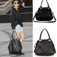 P124 Woman Ladies Black Brown Solid Design Soft Faux Leather...