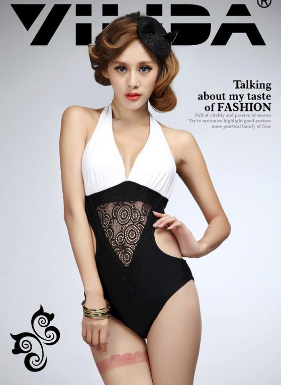 2014 New Sexy Hollow out triangle connection swimming swimsuit Bikini elastic Bathing Suits For Women swimwear Large size swimsuit TY28