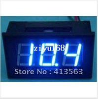 "online shopping Led Dc Voltage Display - 10pcs lot #0001 0 - 99.9V DC Digital Display Voltmeter Three Bit Blue 0.56 ""LED Voltage Meter With Reverse Connection Protection"