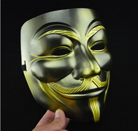 Wholesale Newest Masquerade Face Anonymous Vendetta Adult V Mask For Cosplay Costume Party gift