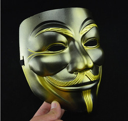Wholesale Vendetta Gold - Newest Masquerade Face Anonymous Vendetta Adult V Mask For Cosplay Costume Party+gift