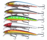 Wholesale Plastic Mixing Spoons - Minnow Fishing lures baits Plastic Hard baits Popper 5pcs lot 130mm 19g Mix 5 colors fishing tackle Spoon 2-11 Free shipping