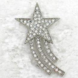 Canada Gros cristal clair strass étoile en forme de broche, broches broches de la mode, fête de mariage cadeau bijoux cadeau C734 A Offre