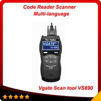 lectores de código obd2 al por mayor-2014 Nueva herramienta Vgate Scan VS890 OBDII OBD2 EOBD CAN-BUS Lector de código Escáner Herramienta de diagnóstico de diagnóstico obd03