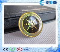 etiquetas anti radiação do telefone móvel venda por atacado-2014 nova chegada anti-radiação do telefone móvel adesivo chip de poupança de energia com cartão de autenticidade com 4 design diferente r