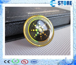 Adesivo mobile anti radiazione online-2014 Anti-radiazioni del telefono mobile Sticker Energy Saver Chip nuovo arrivo con carta di autenticità con 4 diversi design R