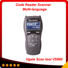 Wholesale price peugeot - 2014 code reader vs890 Vgate MaxiScan fast shipping and best price obd03